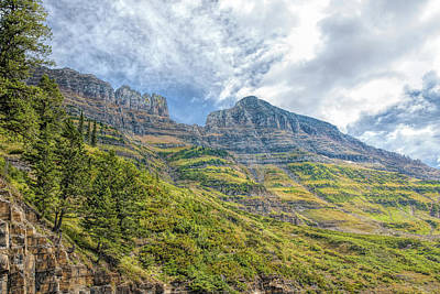 Photograph - Logan Pass Vista by John M Bailey