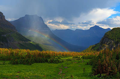 Glacier National Park Wall Art - Photograph - Logan's Rainbow by Ryan Scholl