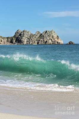 Art Print featuring the photograph Logan Rock Porthcurno Cornwall by Terri Waters