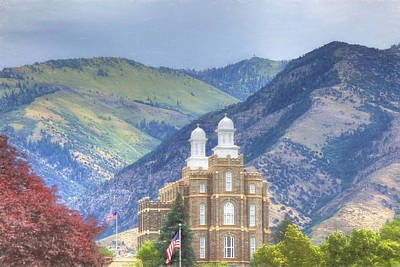 Photograph - Logan L D S Temple 3 by Donna Kennedy