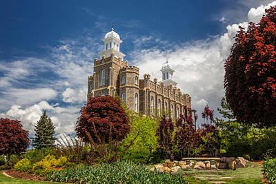 Logan Temple Photograph - Logan Utah Lds Temple by Scott Law