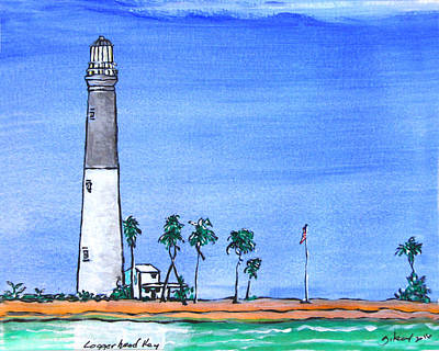 Cape Florida Lighthouse Painting - Logger Head Key Light by W Gilroy
