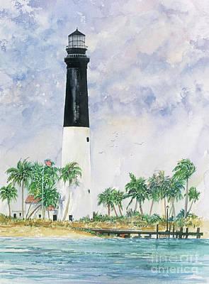 Loggerhead Key Lighthouse Art Print by Richard Jansen