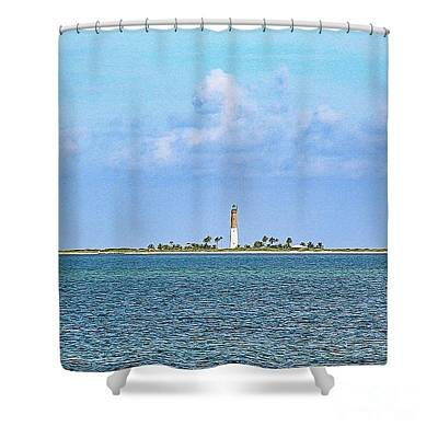 Photograph - Loggerhead Lighthouse Shower Curtain by Teresa Wilson