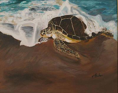 Painting - Loggerhead Trek by Tony Baker