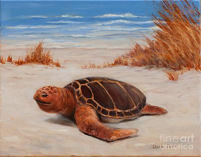 Painting - Loggerhead Turtle by Glenda Cason