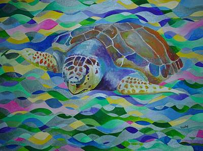 Loggerhead Turtle Art Print by Tracey Harrington-Simpson