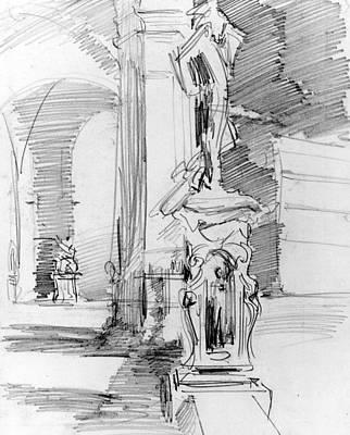 Drawing - Loggia Dei Lanzi, Florence by John Singer Sargent