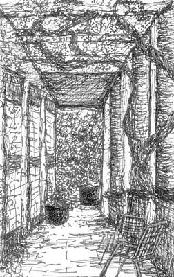 Drawing - Loggia En Provence by VIVA Anderson