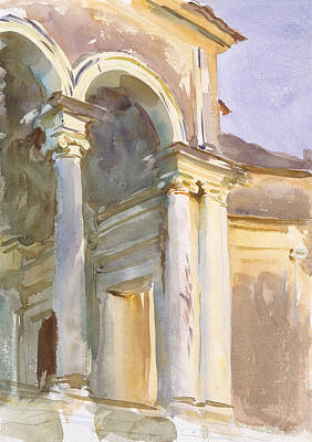 Drawing - Loggia, Villa Giulia, Rome by John Singer Sargent