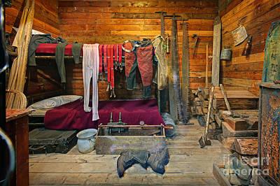 Logging Camp Bunkhouse Art Print