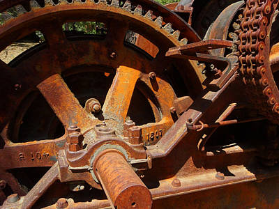 Photograph - Logging Gears by Jacqueline  DiAnne Wasson