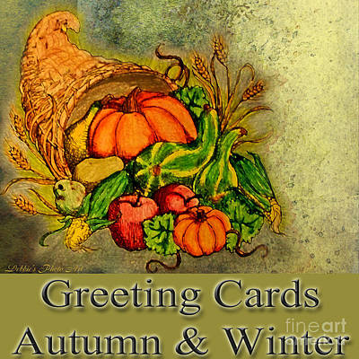 Photograph - Logo - Autumn And Winter Greeting Cards by Debbie Portwood
