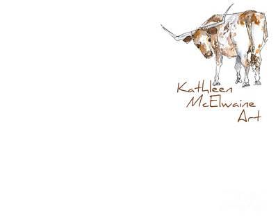 Logo Longhorn For Shirt Pocket Art Print