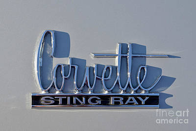 Old Photograph - Logo Of 1966 Chevrolet Corvette Sting Ray 427 Turbo-jet by George Atsametakis