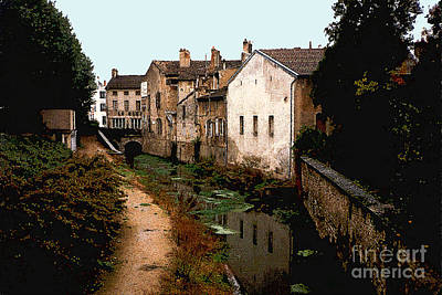 Loire Valley Village Scene Original by Nancy Mueller