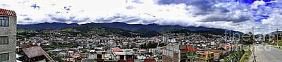 Photograph - Loja, Ecuador Panorama by Al Bourassa