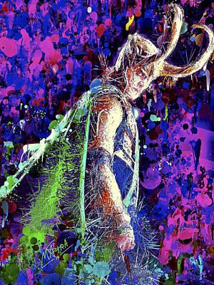 Mixed Media - Loki Ready For War by Al Matra