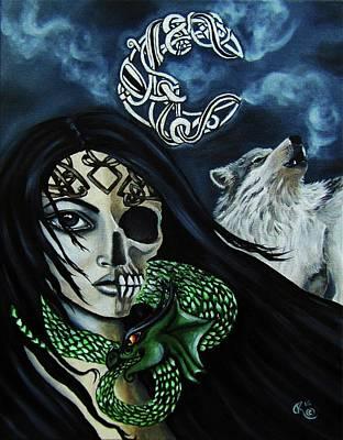 Norse Goddess Painting - Loki's Offspring by Christina Marin
