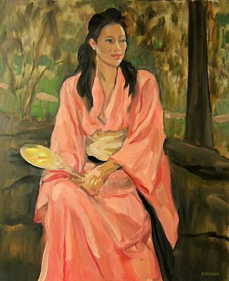 Painting - Lola In Kimono by Robert Holden