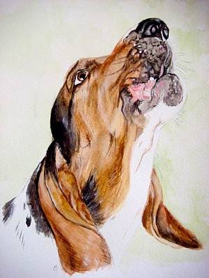 Basset Hound Painting - Lola Sings by Carol Blackhurst