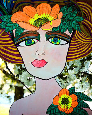Painting - Lola Walks Amid Cherry Blossoms by Marie Jamieson