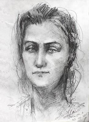 Lady Drawing - Lola by Ylli Haruni