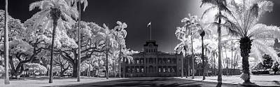Infra-red Photograph - Lolani Palace Grounds by Sean Davey