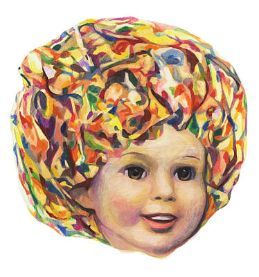Shirley Temple Mixed Media - Lollipop Glump by Karl Frey
