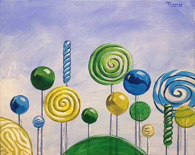 Painting - Lollipop Land by Tommy Midyette