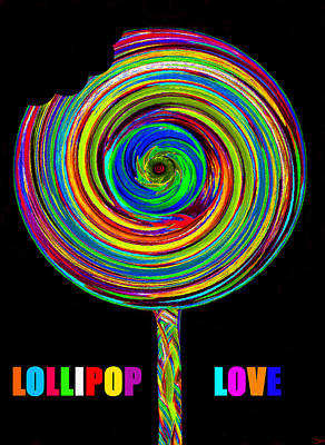 Painting - Lollipop Love by David Lee Thompson