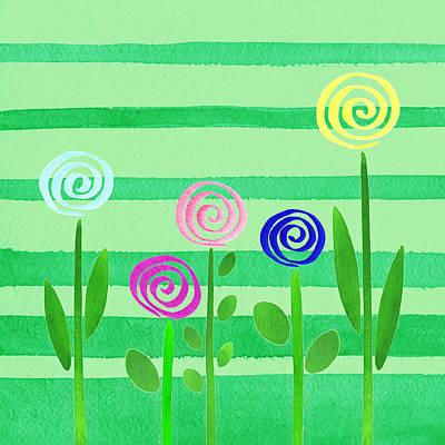 Painting - Lollipop Summer Garden by Irina Sztukowski