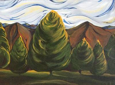 Painting - Lollipop Trees by Pat Purdy