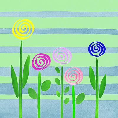 Painting - Lollipops In The Garden by Irina Sztukowski