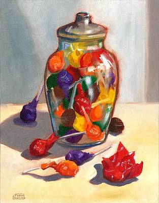 Painting - Lollipops by Susan Thomas