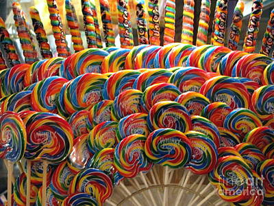 Life Is Beautiful Galleries Photograph - Lollypops Lollypops by Colleen Kammerer