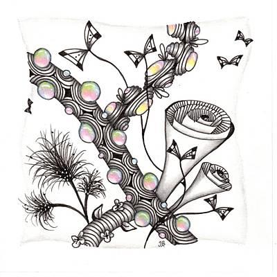 Drawing - Lollywimple Garden by Jan Steinle