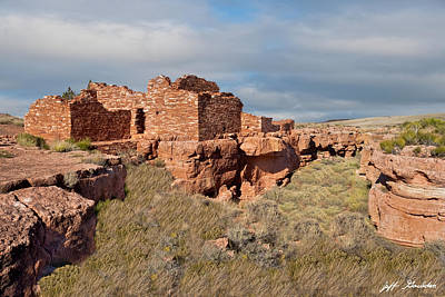 Photograph - Lomaki Pueblo Ruins by Jeff Goulden
