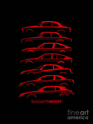 Lombard Coupe Silhouettehistory Art Print