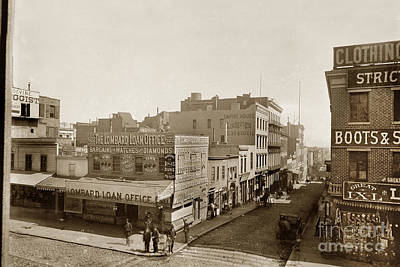 Photograph - Lombard Loan Office 622 Kearny Street. Empire House Lodgings Circa 1888 by California Views Archives Mr Pat Hathaway Archives