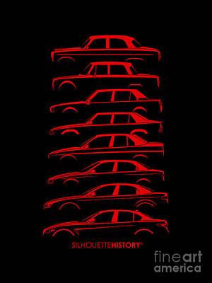 Alfa Romeo Digital Art - Lombard Sedan Silhouettehistory by Gabor Vida