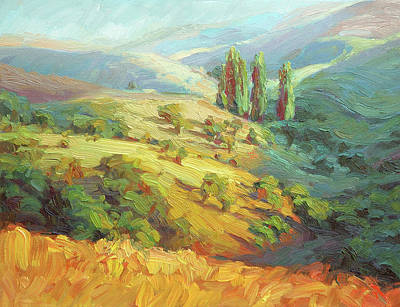 Countryside Painting - Lombardy Homestead by Steve Henderson