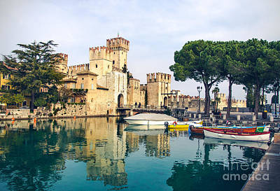 Gravure Photograph - Sirmione Canvas Print -  Lombardy Region - by Luca Lorenzelli