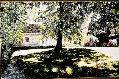 Painting - L'ombre A Midi. by SJV Jeffery-Swailes
