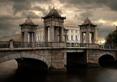 Photograph - Lomonosov Bridge At Sunset. by Jaroslaw Blaminsky