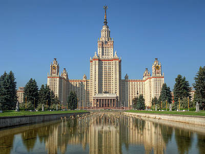 Moscow Photograph - Lomonosov Moscow State University At Day by Alexey Kljatov