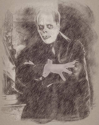 Celebrities Paintings - Lon Chaney by Esoterica Art Agency