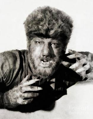 Musicians Royalty-Free and Rights-Managed Images - Lon Chaney, Jr. as Wolfman by John Springfield