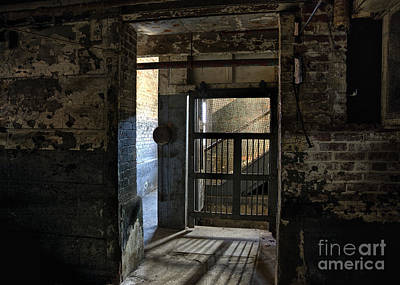 Old Door Mixed Media - Lonaconing Light by Terry Rowe