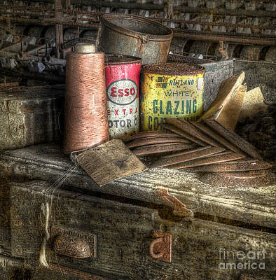 Cardboard Digital Art - Lonaconing Silk Mill Desk by Jerry Fornarotto